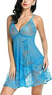 Avidlove Women Lingerie Lace Babydoll Strap Chemise Sexy V Neck Sleepwear