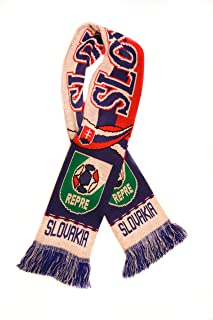 Slovakia National Soccer Team | Premium Fan Scarf | Ships from USA | Acrylic Knit Scarf