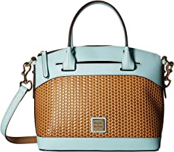 Beacon Woven Domed Satchel
