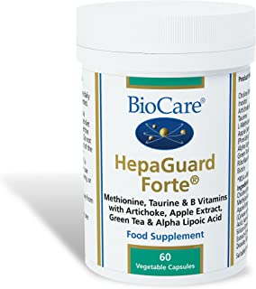 Biocare HepaGuard Forte (liver support with apple extract). 60 vegi tapasules