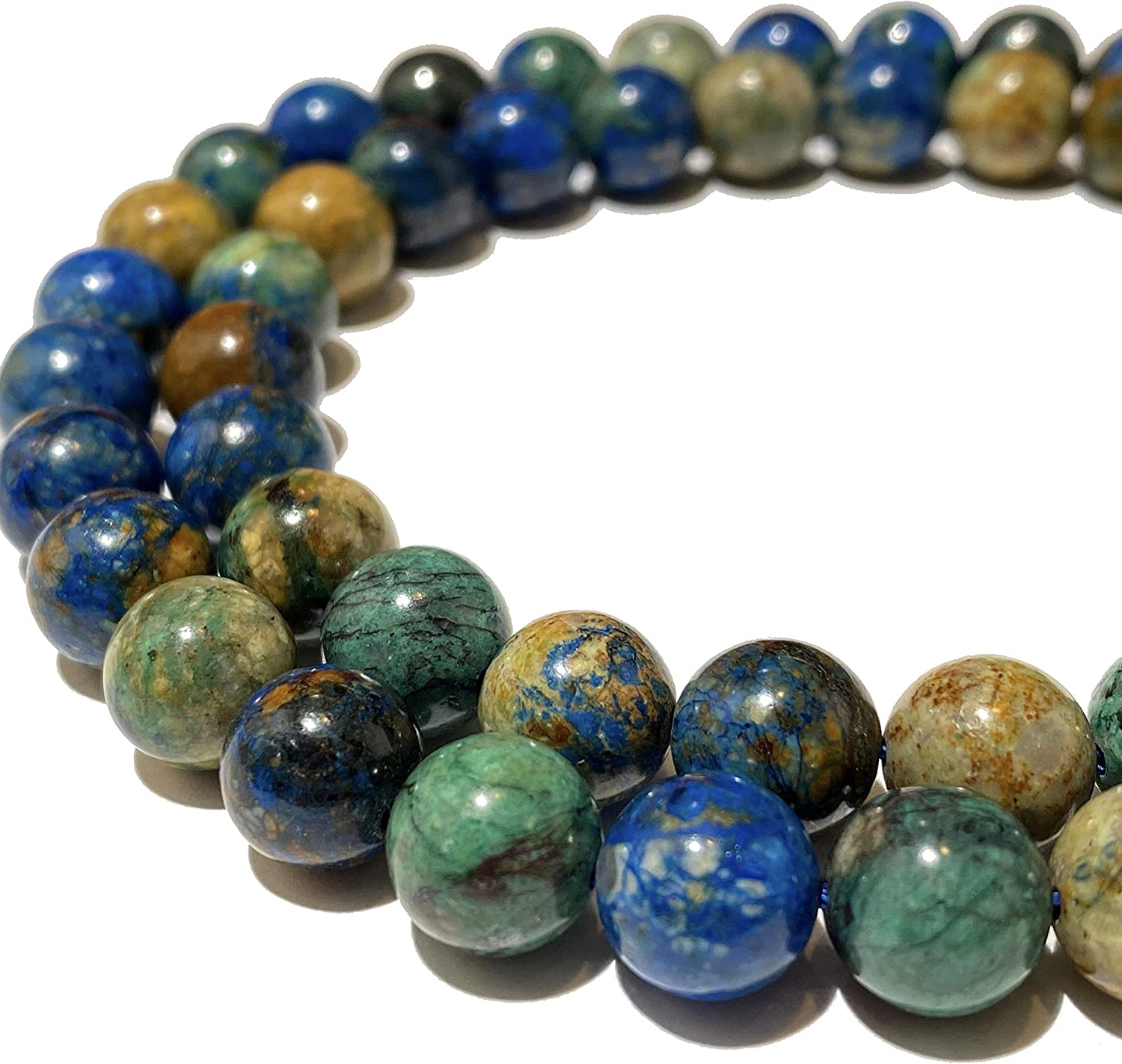 ABCgems Two-Tone African Azurite Combination Malachite of Indianapolis Mall Blu Fees free