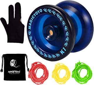 MAGICYOYO Responsive YoYo K1-Plus with Yoyo Sack + 3 Strings and Yo-Yo Glove Gift (Blue)