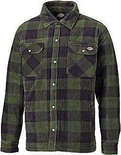 Dickies Portland Padded Shirt Fleece Workwear (SH5000) WARM PADDED LINED GREEN & NAVY BLUE SIZES S, M,L,XL,XXL
