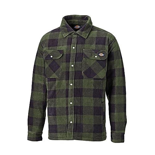 1f015ac4efc Dickies Portland Padded Shirt Fleece Workwear (SH5000) WARM PADDED LINED  GREEN & NAVY BLUE