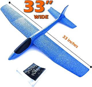 G-I-A-N-T (Almost 3 FEET), Great Flying, Almost Unbreakable, Large Foam Glider Plane. Virgin EPP Foam. Ideal for RC Conversion! Similar to LIDL Gliders Sold Out in Europe!