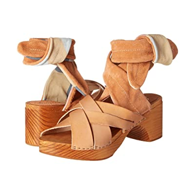 Free People Emmy Wrap Clog (Natural) Women