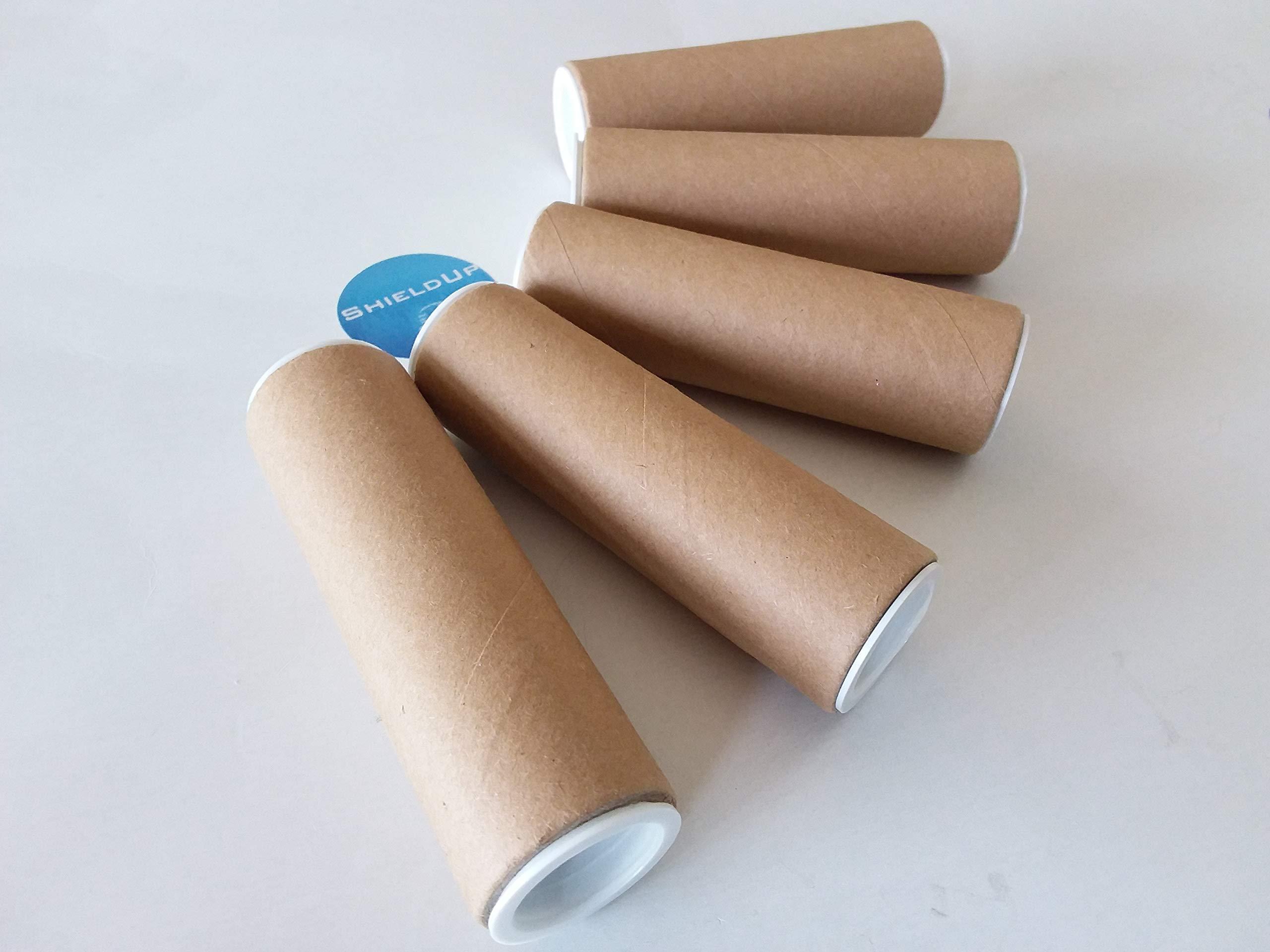 A2 Cardboard Postal Tubes End Caps 480mm x 50mm Brown 100 Manilla