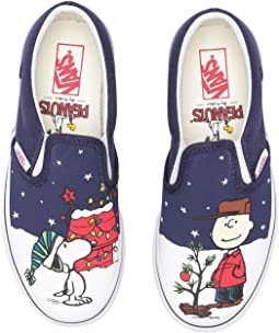 Classic Slip-On x Peanuts Christmas (Little Kid/Big Kid)