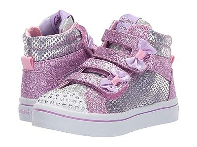 SKECHERS KIDS Twi-Lites 20240N (Toddler/Little Kid) (Pink/Silver) Girl