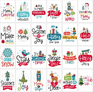 Christmas Greeting Cards Box Set | 24 Assorted Holiday Cards for Winter Season, Holiday Gift Giving, Xmas Gifts Cards