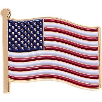 LOT OF 12 PCS USA FLAG LAPEL PIN NEW TAC PINS US PATRIOTIC SOUVENIR