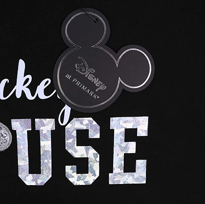 Camiseta Negra Top Mickey Mouse Disney 14-15 Años 170 cm ...