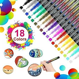 18 Colores Rotuladores de Pintura Acrílica Rotuladores Perm