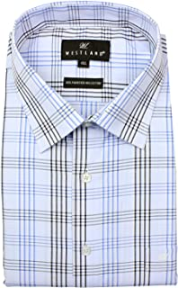 WESTLAND MENS SHIRTS,Blue,4XL