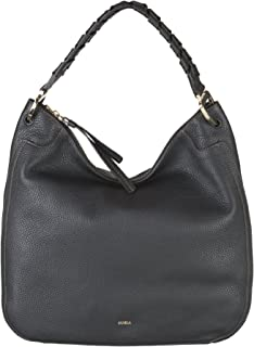 Furla Rialto Ladies XL Black Onyx Leather Hobo Bag 977638