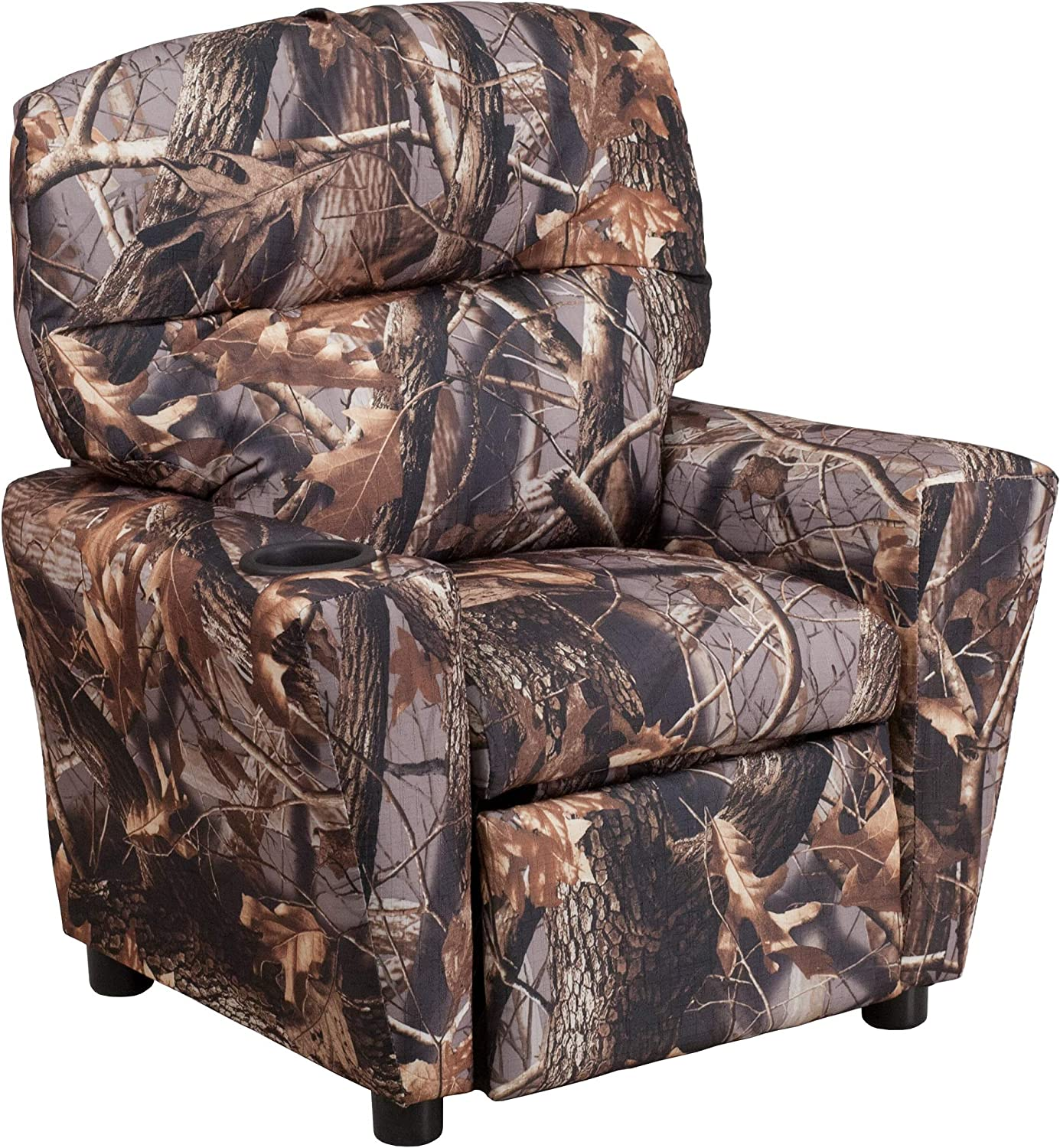 """FF Furniture Group 28"""" Camouflaged Kids Fabric wi Recliner 55% OFF Virginia Beach Mall"""