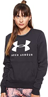 Under Armour Women's 12.1 Rival Fleece Sportstyle Graphic Crew Sweatshirt