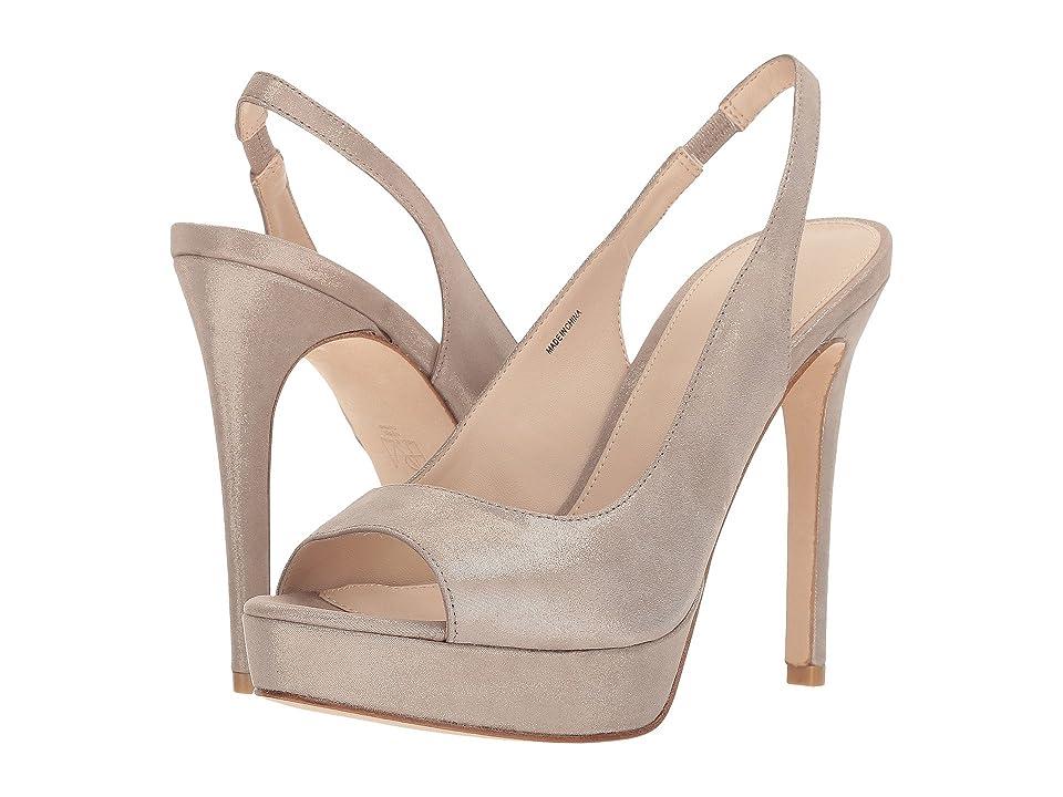 Pelle Moda Oana (Dark Taupe Shimmer Suede) High Heels