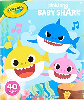 Crayola Baby Shark Coloring Set, Gift for Kids, 3, 4, 5, 6 04-0812