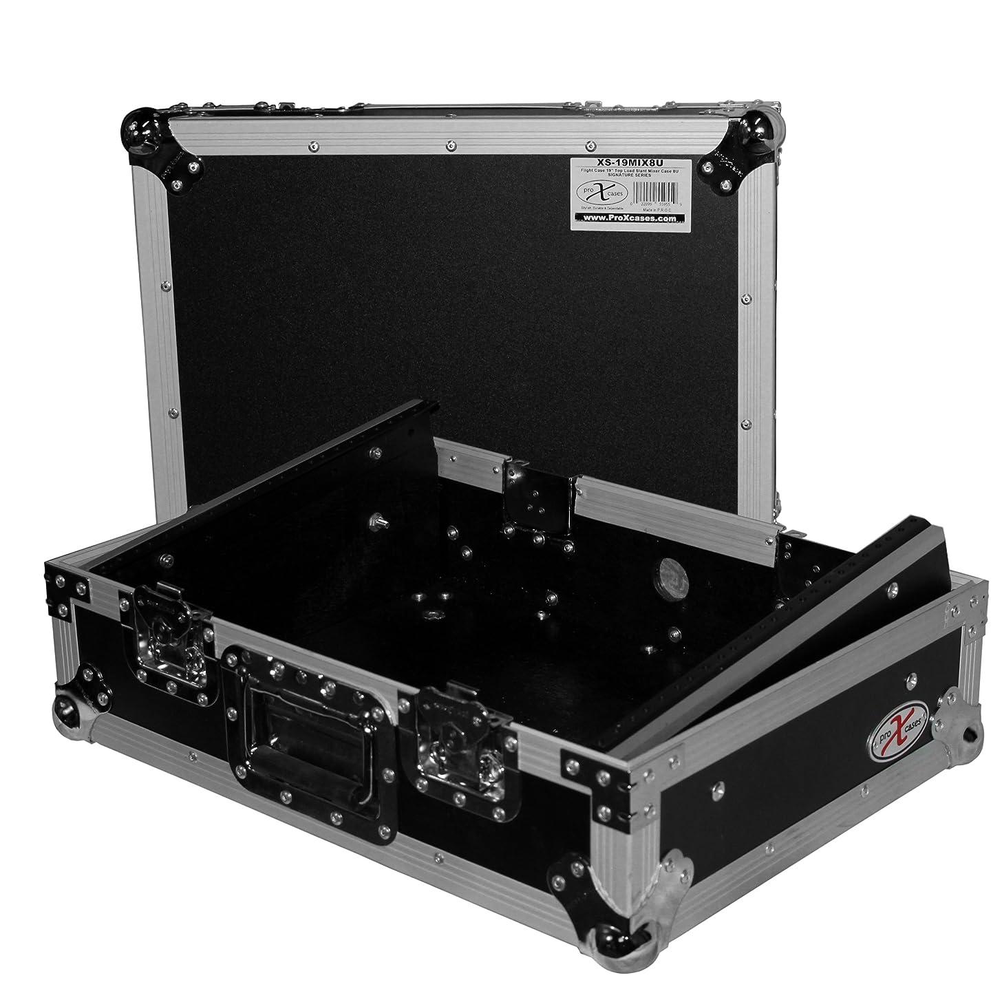 ProX XS-19MIX8U 8U Top Mount 19in Slanted Mixer Case