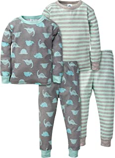 Gerber Baby Boys' Toddler Organic 2 Pack 2-Piece Cotton Pjs