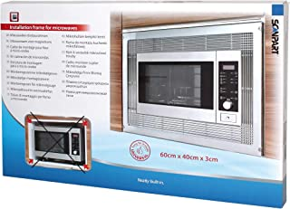 Scan Part 7300000113 Marco de montaje para microondas, color negro ...