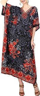 خانمهای Miss Lavish London خانمها Kaftans لباس های سبک کیمونو ماکسی مناسب نوجوانان برای زنان بزرگسال در اندازه های منظم تا بیشتر