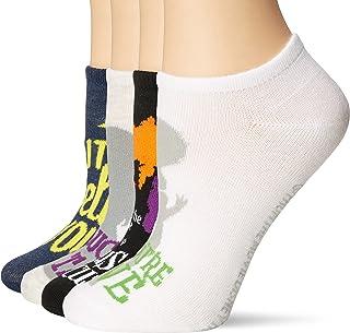 Disney womens Hocus Pocus 5 Pack No Show Casual Sock, Assorted