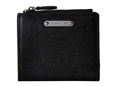 Rebecca Minkoff Bifold Snap Wallet (Black) Handbags