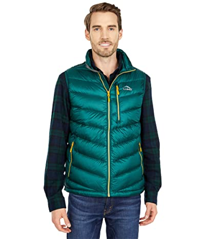 L.L.Bean Ultralight 850 Down Vest (Black Forest Green) Men