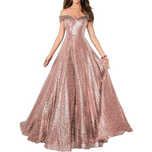 75307ae17cb90 YIRENWANSHA Sxey Off Shoulder Prom Dresses 2019 Sequin Empire Waist Evening  Gown Long Costume