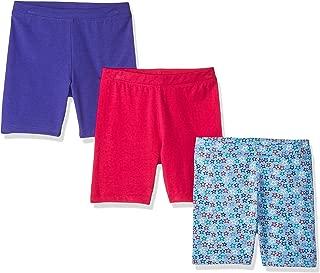 Amazon Brand - Spotted Zebra Girls' Toddler & Kids 3-Pack Bike Shorts