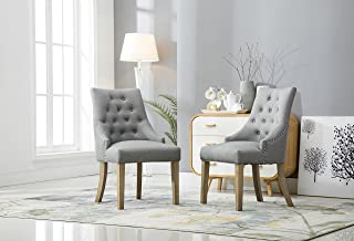 Best grey wingback dining chairs Reviews