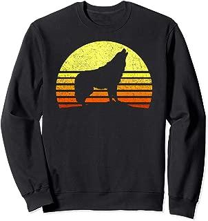 Alpha Wolf Shirt Retro Vintage Sun I Love Wolves Mens Womens Sweatshirt
