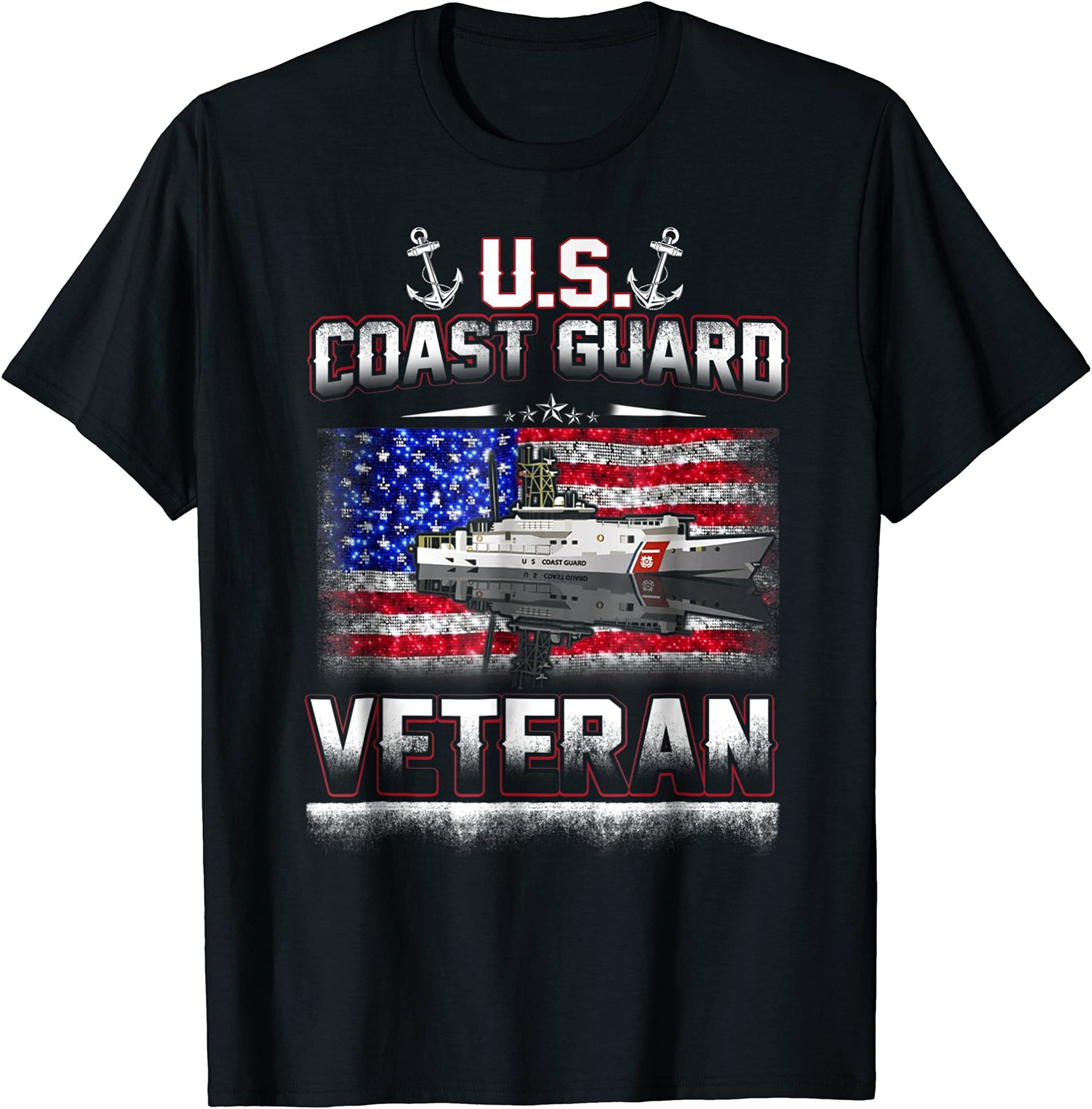 U.S. Coast Guard Veteran Vet Flag T-Shirt
