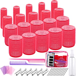 Ruisita 103 Pieces Salon Hairdressing Curlers Kit, Includes Self Grip Hair Curlers, Duckbill Clip, Comb, Hair Bangs Patch ...