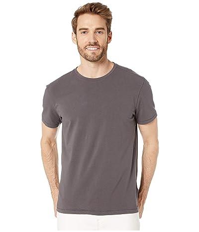 John Varvatos Star U.S.A. Grant Short Sleeve Cotton Crew (Stone Grey) Men