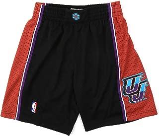 Mitchell & Ness Utah Jazz Mens Black Swingman Shorts