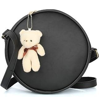 Mammon Women's black sling bag (slg-rwnd-blk)