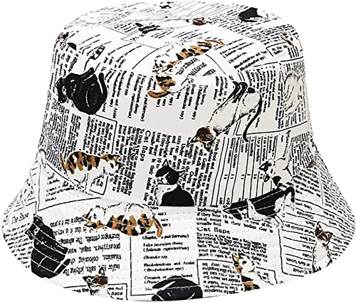 new arrival Cute Printed Bucket Hat Summer Travel discount Fisherman Cap for Women Men Teens, Fashion Outdoor Bucket online sale Beach Sun Hat outlet sale