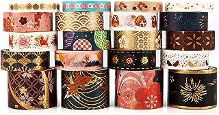 Washi Tape Set, 20 Rouleaux Collection de Rubans Adhésifs Décoratifs pour l'Art et le Bricolage, Embellir les Carnets de B...