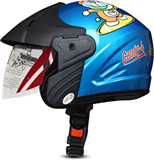 ACTIVE CANDY-4 Open Face Face Helmet for Kids from 3 to 6 Years (BLUE,Size-Extra Small)(CARTOON CHARACTERs MAY VERY) (BLUE)