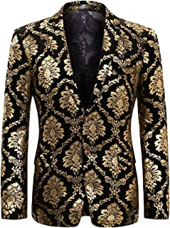 Men's Dress Suit Jacket Luxury Jacquard Notched Lapel Floral Blazer Formal Dress Prom
