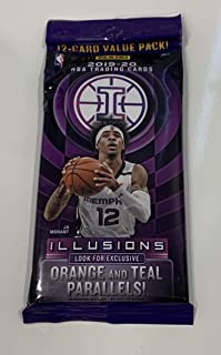2020 Panini Illusions Basketball NBA Value Card Pack - Orange Teal Exclusive