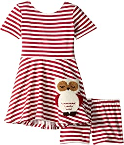 Owl Play Skater Dress (Toddler/Little Kids)
