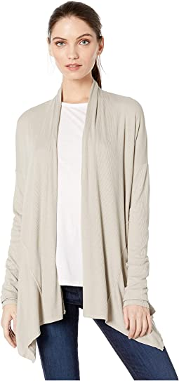Emree Coastal Rib Long Sleeve Shawl Collar Cardigan