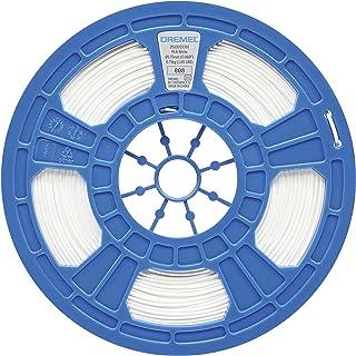 Dremel PLA 3D Printer Filament For Dremel 3D Printers, 1.75 mm Diameter, 0.75 kg Spool Weight, White, RFID Enabled