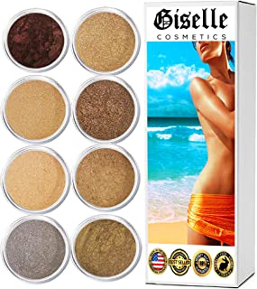 EyeShadow Palette - Mineral Makeup Eyeshadow Powder, Foundation, Concealer, Blush, and Contouring Palette | Pure, Non-Diluted Shimmer Mineral Make Up in 8 Coco Hues and Shades | For All Skin