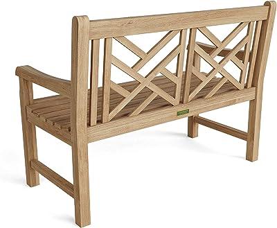 Anderson Teak BH-121 Vilano 2-Seater Bench, Honey Gold Teak