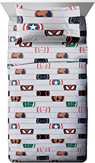 Jay Franco Marvel Avengers Emblems Twin XL Sheet Set - 3 Piece Set Super Soft and Cozy Kid's Bedding - Fade Resistant Micr...